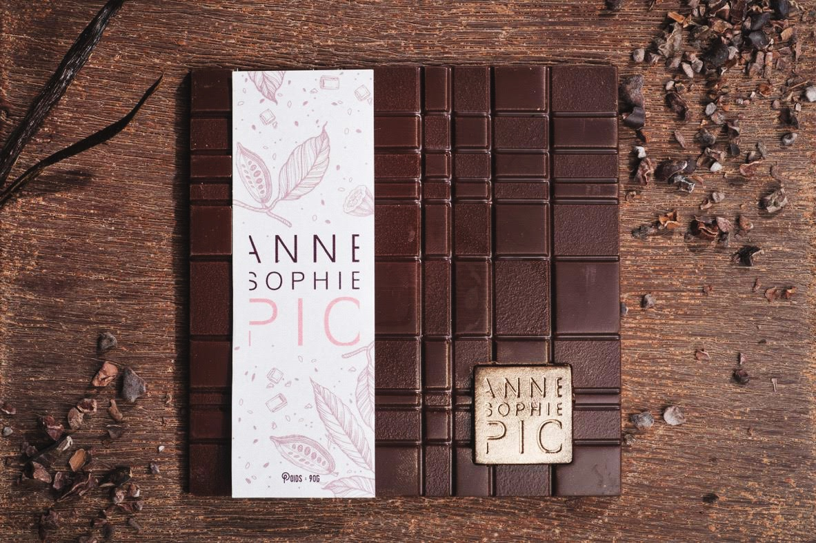 graphisme tablette chocolat Anne Sophie Pic